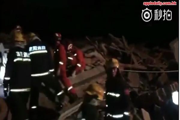 小年夜湖北酒店被山崩掩埋  九人仍被困