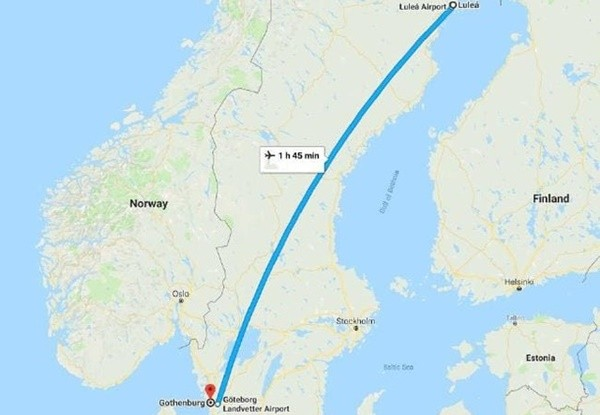搞烏龍?瑞典航空公司把全機旅客送錯目的地