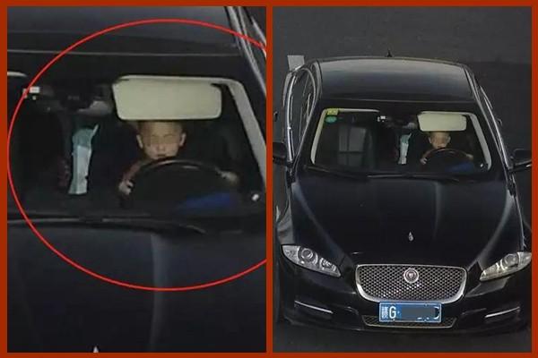 让3岁孩子开车驶快车道 中国家长高速路玩命