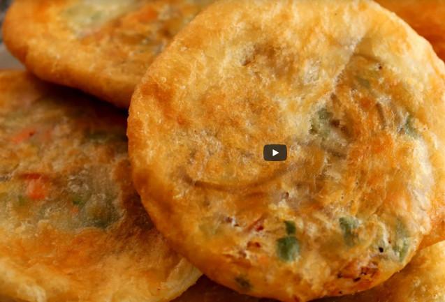 蔬菜餡餅 排長隊也要吃 家庭簡單做法(視頻)