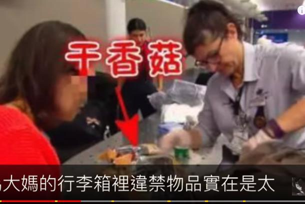 中國大媽去澳洲探望兒子 因攜帶食品遭海關罰款(視頻)