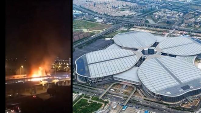 習近平來訪前夕 進博會上海會場附近驚傳大爆炸