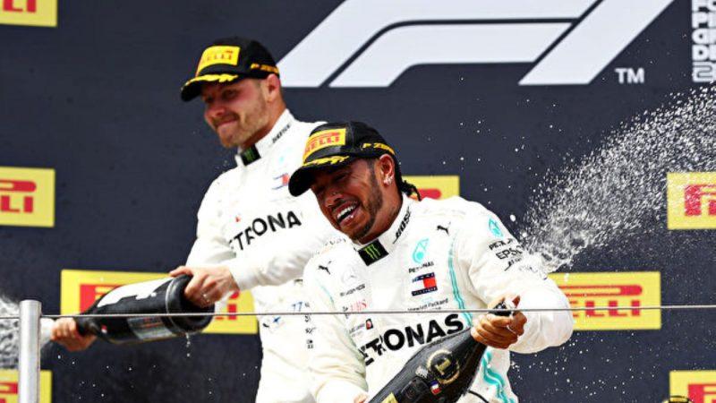 F1法国站:梅赛德斯车队第6次包揽冠亚军