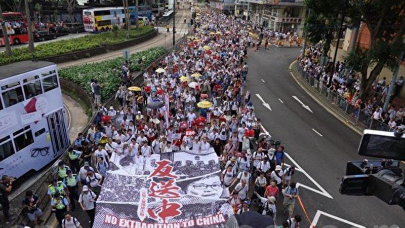 """全球29个城市集会 声援香港百万人""""反送中""""大游行"""