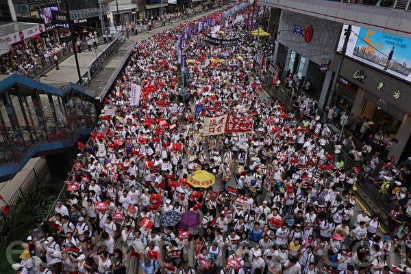 張明健:百萬港人大遊行 習近平掉入「溫水鍋」