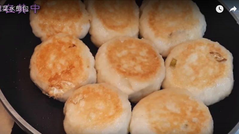 高丽菜水煎包 材料丰富美味(视频)