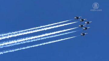 紐約國際航展 英美空軍頂級特技飛行