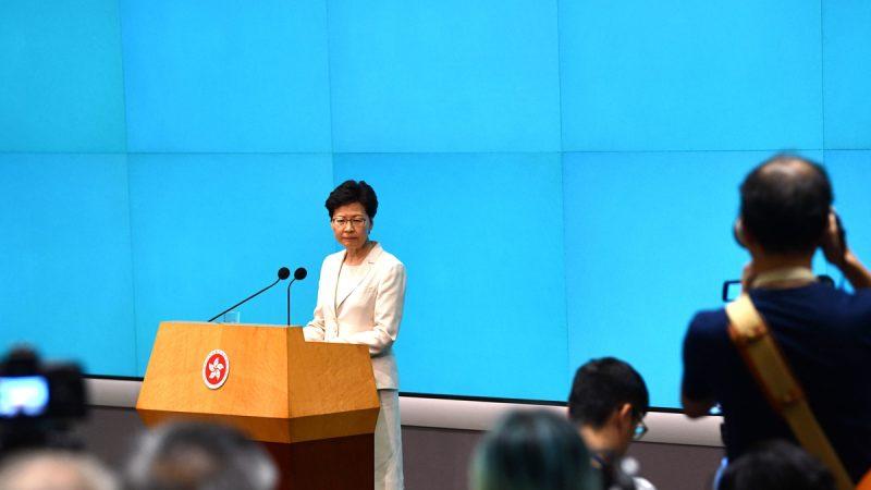 林鄭露面語帶哭腔 稱香港已「五勞七傷」