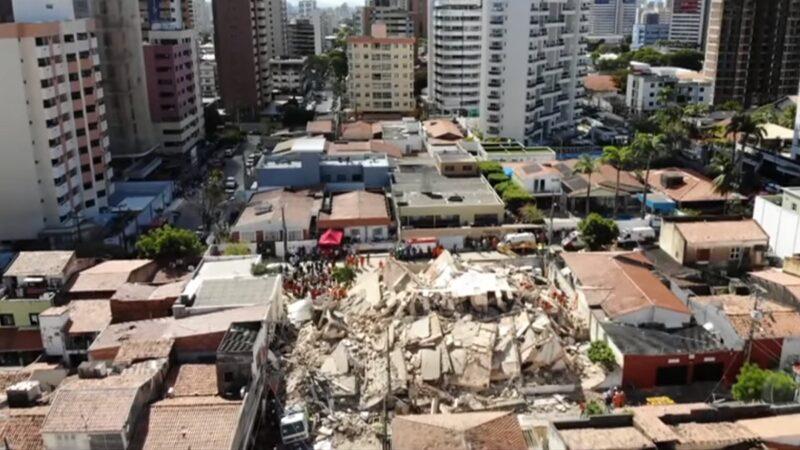 巴西一棟7層公寓倒塌 3死7失蹤
