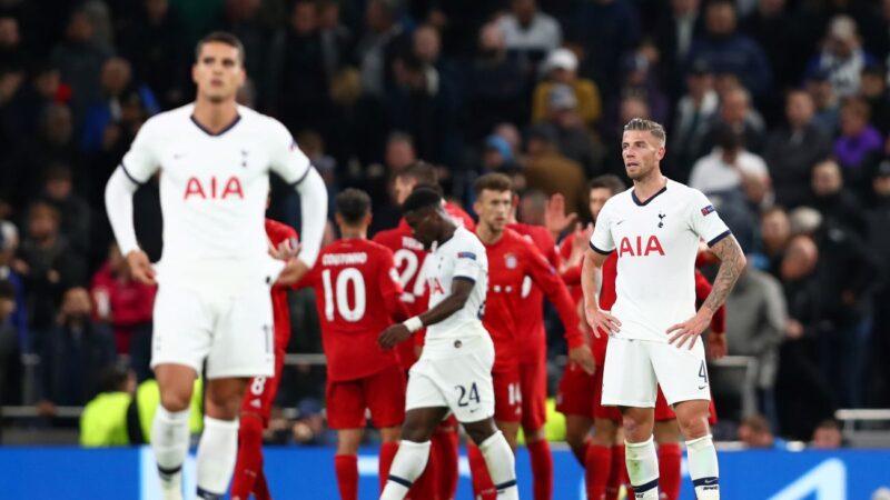 欧冠小组赛 热刺被拜仁灌七球 创尴尬纪录