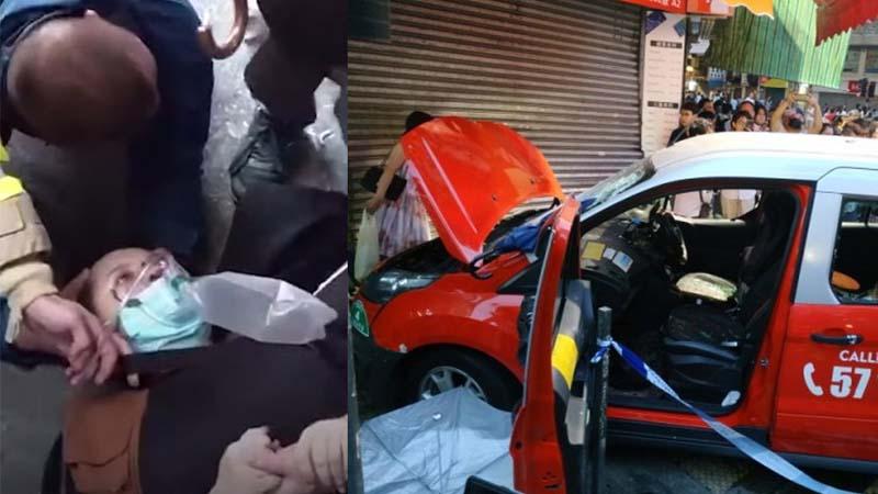 中共公开犒赏车撞示威者司机52万 震惊香港