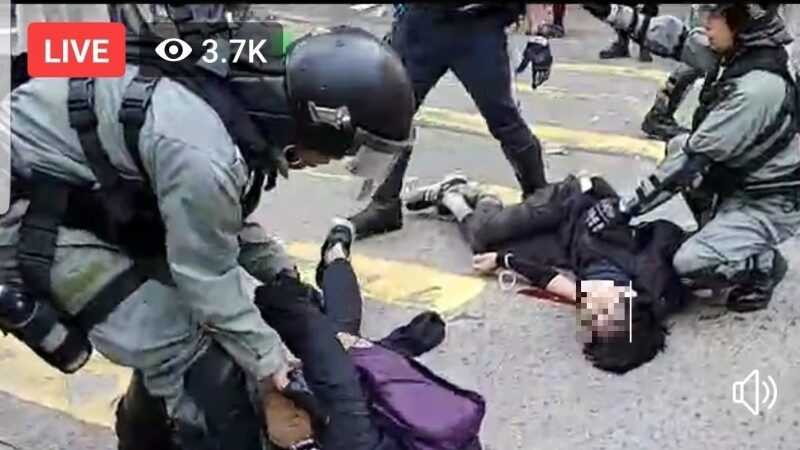 香港今天大三罷 警無預警連開3槍釀血案(視頻)