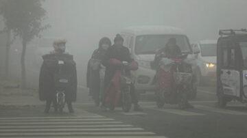 大面积阴霾来袭 中国55城发重污染预警