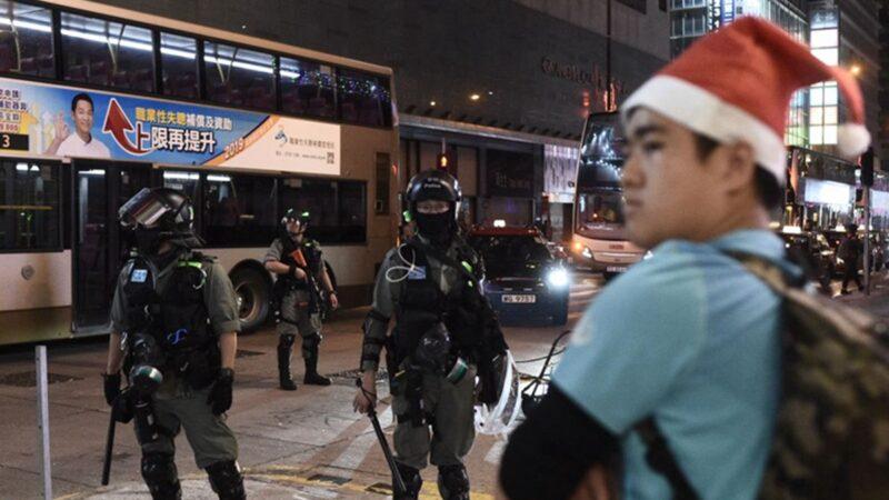 """香港""""血色圣诞"""" 港警2天狂抓约200人(组图)"""