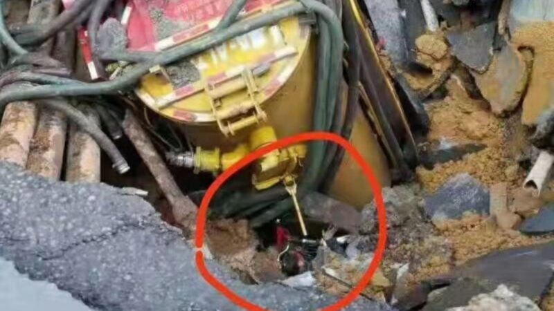 人未救先回填 广州地铁施工区塌陷 3人被埋