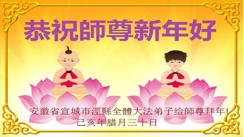 安徽法轮功学员恭祝李洪志大师新年好(25条)