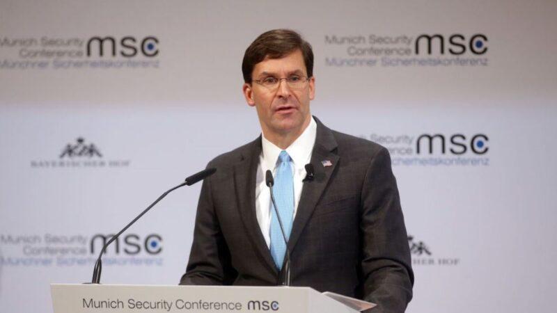 美国防长埃斯珀:中国对世界秩序构成越来越大的威胁