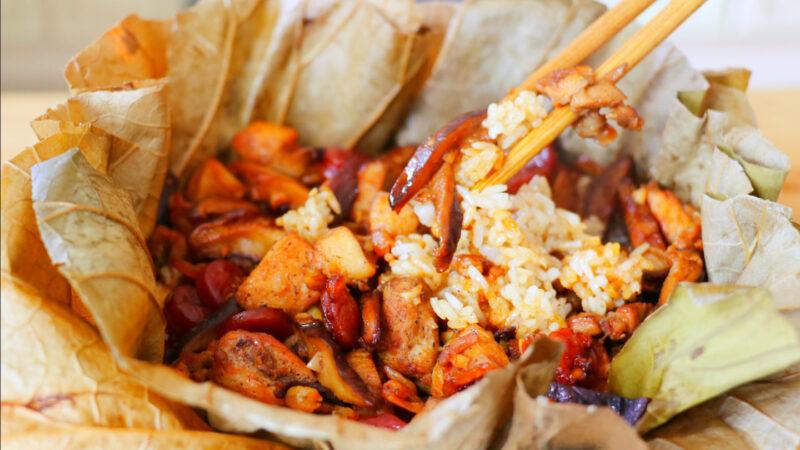 【美食天堂】必吃荷葉糯米雞~超級香噴噴~人人都愛!家常料理食譜 一學就會