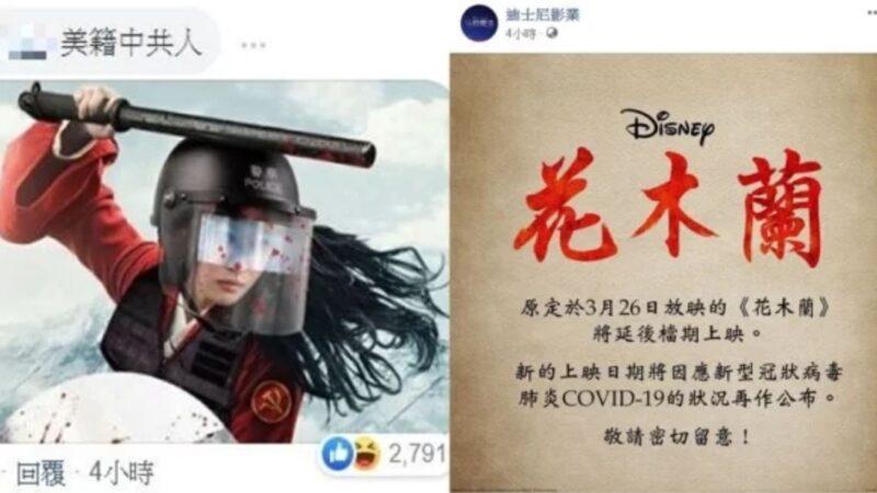 劉亦菲挺港警挨轟《花木蘭》延期損失25.5億