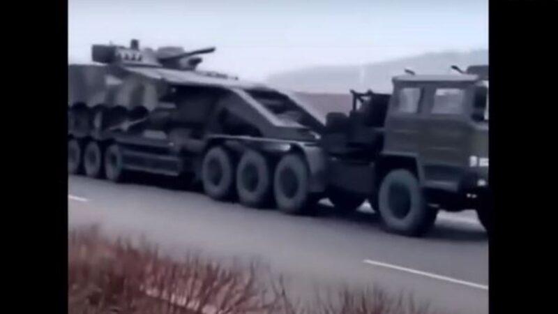 中朝邊境緊張 傳大批重型軍武運往丹東方向(視頻)
