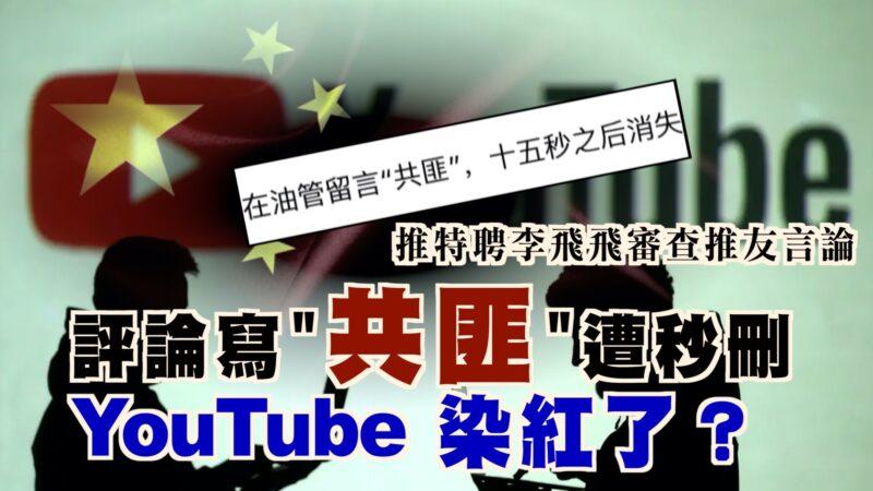"""海外社交平台沦陷?YouTube评论写""""共匪""""秒删 李飞飞帮推特审查假消息"""