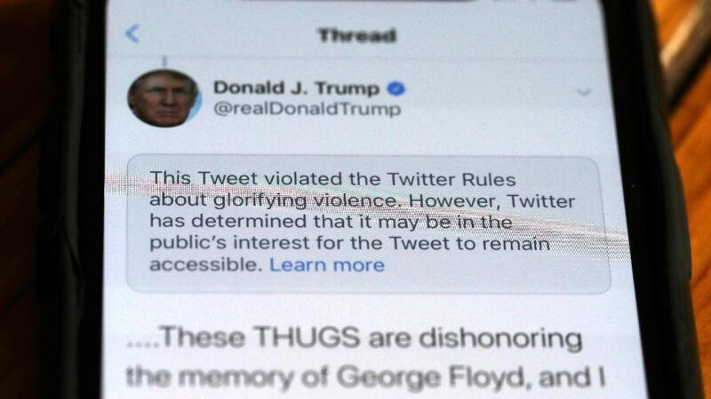 推特继续强推审查 川普白宫推文先后遭限
