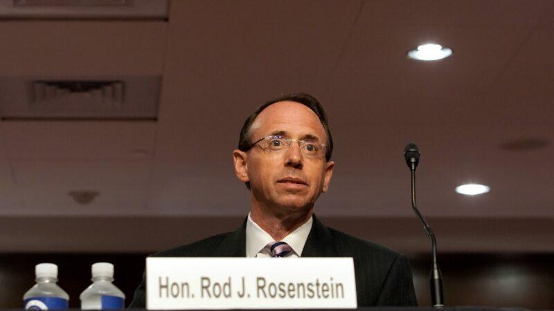 羅森斯坦國會作證 後悔授權監聽川普顧問
