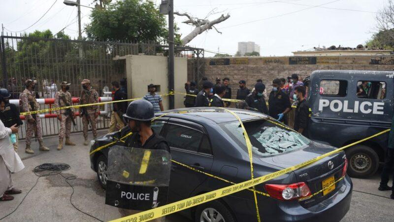 攻击巴基斯坦证交所 4枪手遭当场撃毙