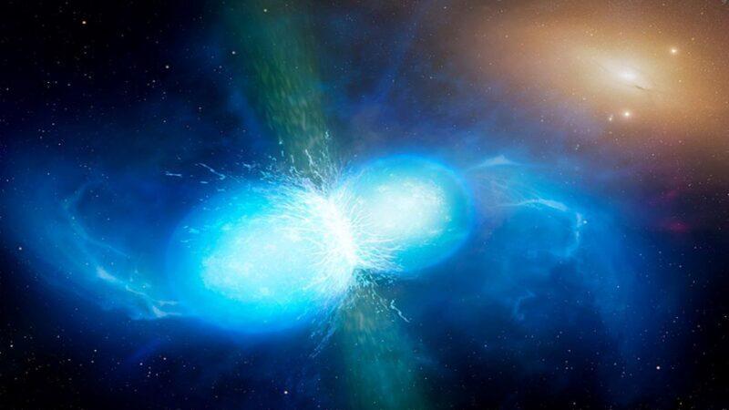 地球上大多数重金属来源于爆炸的中子星?那地球的来源~~