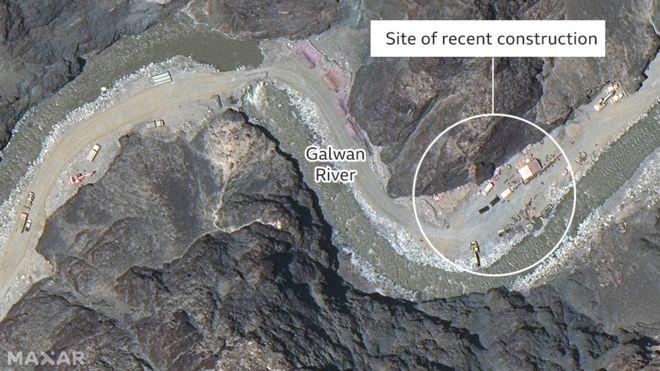 卫星照显示:中方低调撤出加勒万河谷