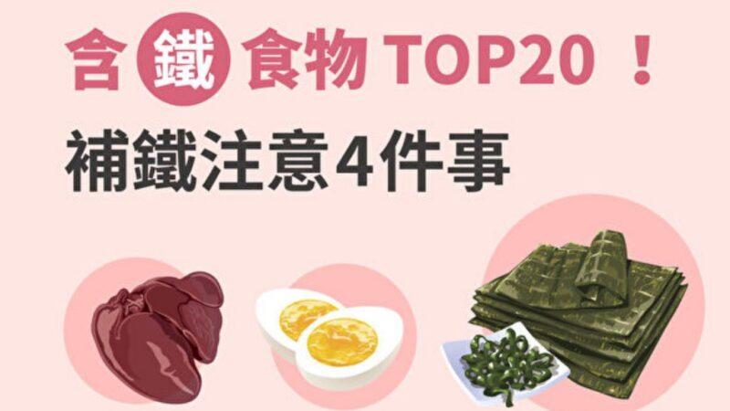 含铁食物TOP20 凤尾藻铁质最高?补铁注意4点(图)