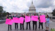 美國會山前集會 支持香港天滅中共