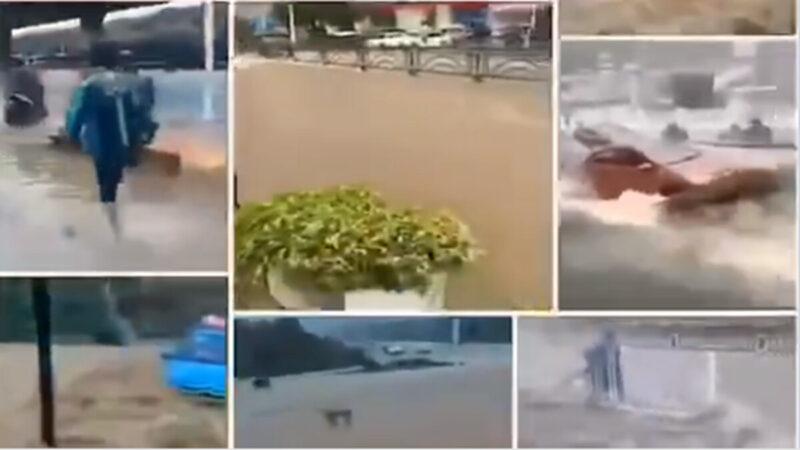 疫情洪水大雪冰雹 中國各地災難齊來(多視頻)