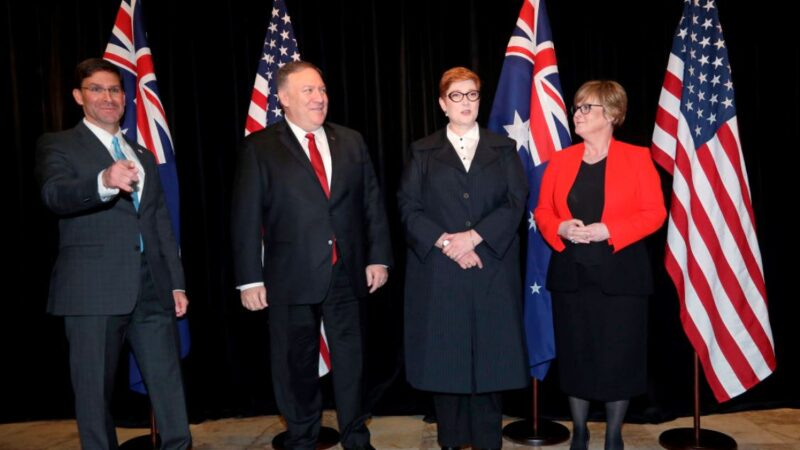 美澳2+2部長會議强化圍堵中共 擬擴大五眼聯盟