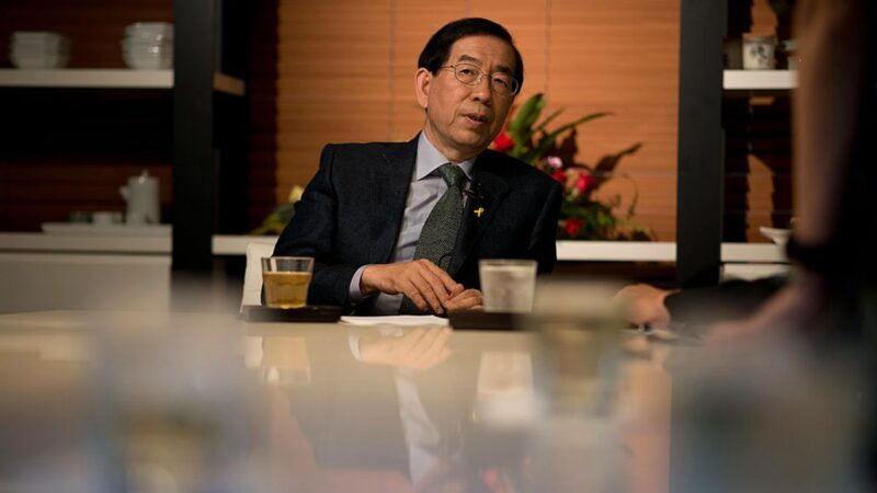 首尔市长朴元淳自杀 陷性丑闻 称要向北京报恩