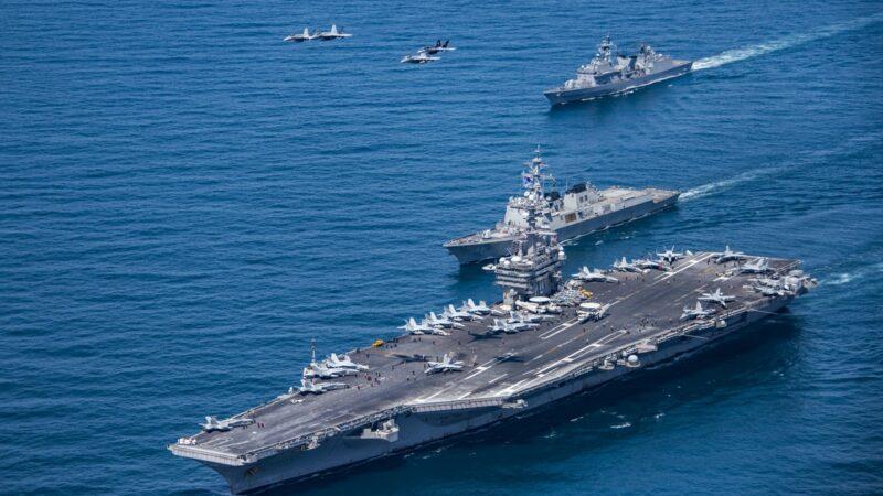 罕见!美中同时在南海军演 美2航母战斗群参演