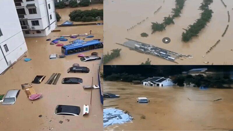 长江中下游暴雨持续 1200公里水位超警戒