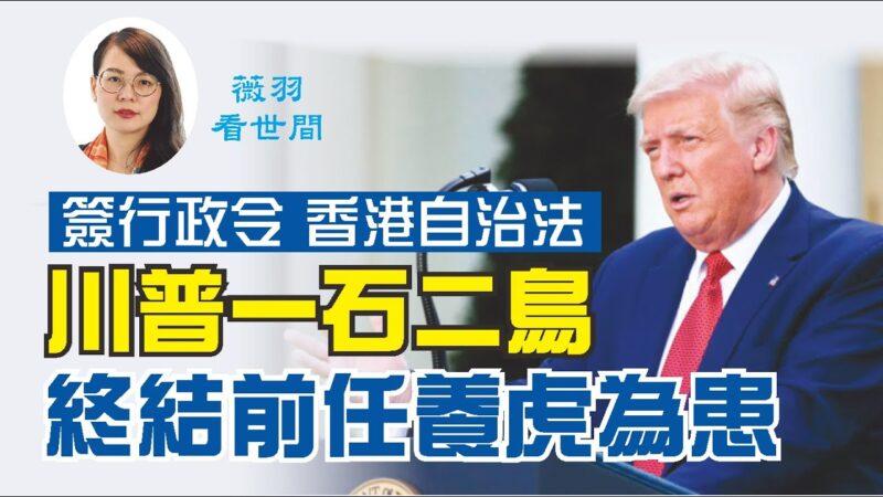 【薇羽看世间】川普签香港自治法,颁布行政令,一石二鸟打到了谁?