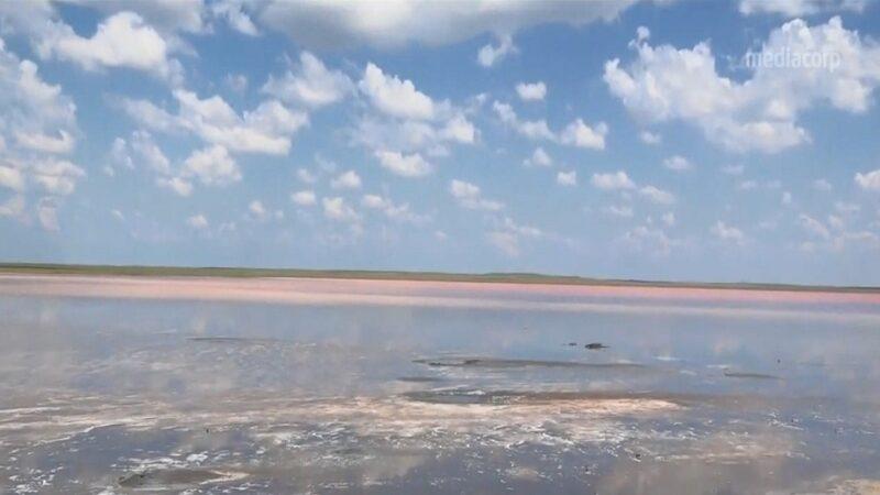 谣传能抗病毒 哈萨克斯坦粉红湖遭偷挖