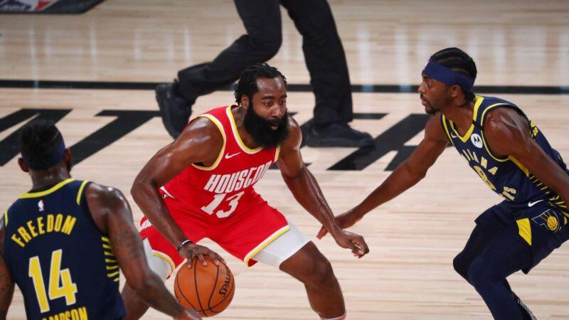 NBA哈登准大三元无用 火箭2连败