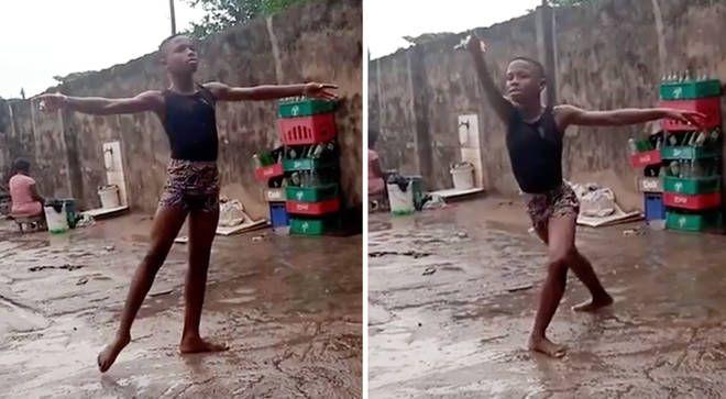 非洲男孩踏雨漫舞爆紅 舞團資助他赴美追夢