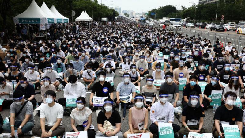 医生全国大罢工 韩国政府下令立即复工