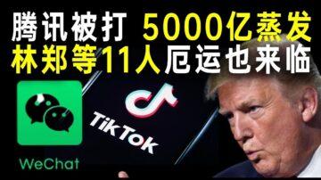 【秦鹏政经观察】川普制裁微信和TikTok 腾讯市值蒸发5000亿