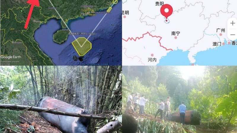 網傳殘骸落廣西 中共南海射導彈數量成疑