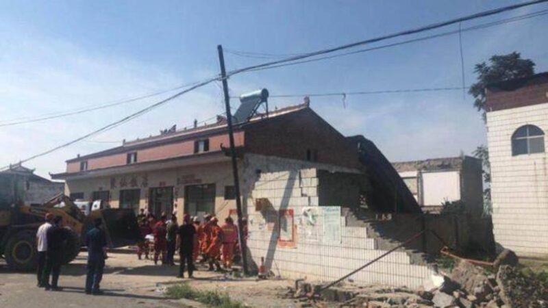 山西襄汾一酒店办寿宴突坍塌 至少29死28人伤