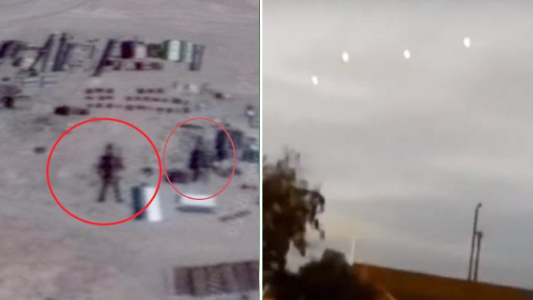 """美神秘""""51区""""发现16米高外星机器人和UFO(视频)"""
