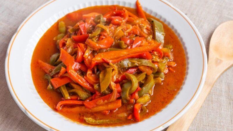 青椒煮西红柿(组图)