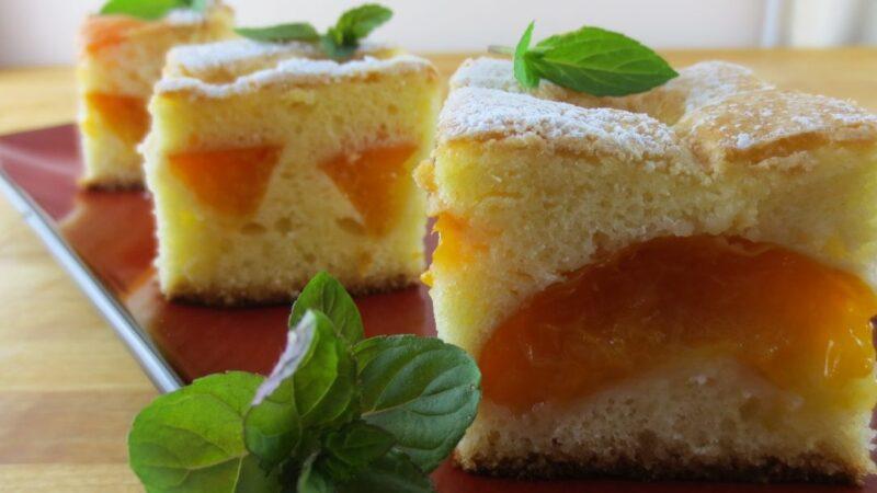 新鲜杏子的丰富美味 杏子蛋糕(组图)