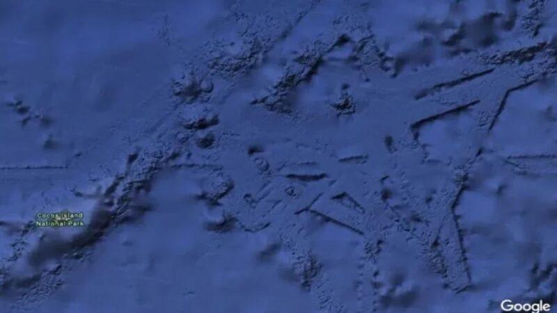 1800米深海现史前文明的机场建筑?