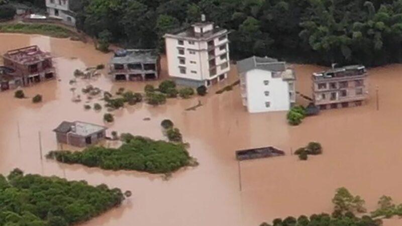 多地淹没 房子冲毁 安徽数万人泡水40天无救援(视频)